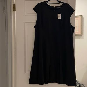 NWT Black Faux Suede Dress from The Limited 2X